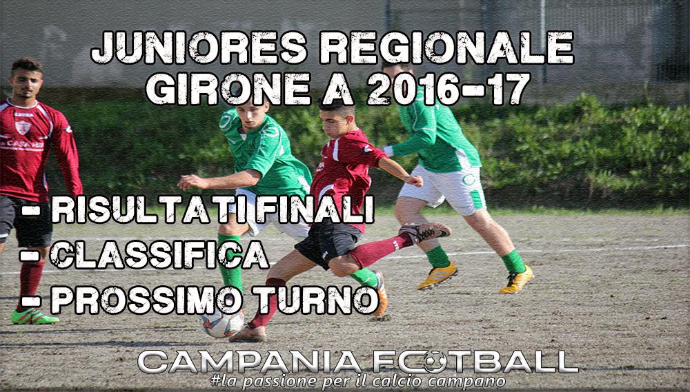 Juniores Regionale Girone A, 8ª Giornata: risultati, classifica e prossimo turno