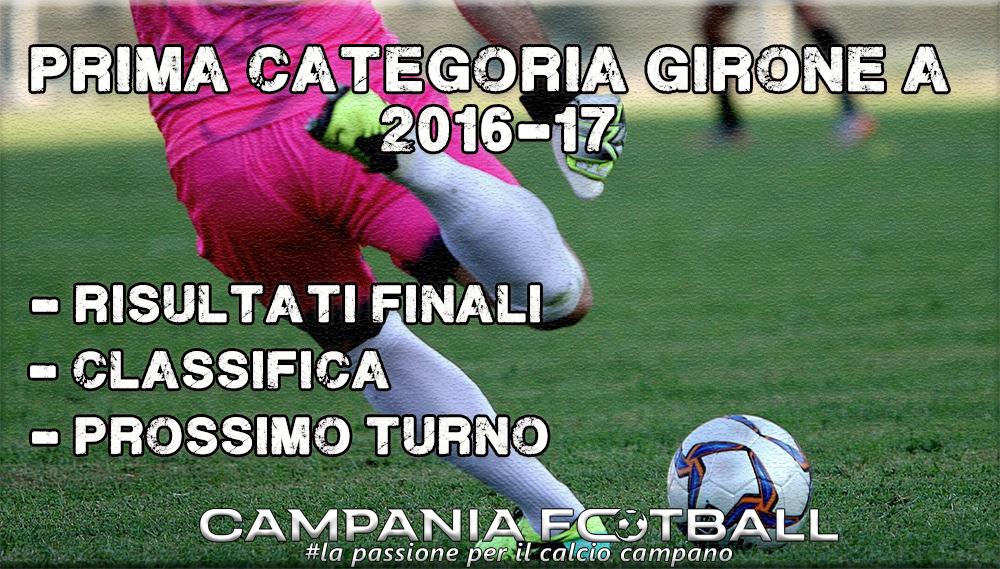 1^CATEGORIA GIRONE A, 21^GIORNATA: RISULTATI FINALI, CLASSIFICA E PROSSIMO TURNO