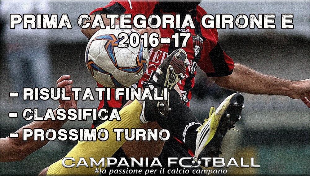 1^CATEGORIA GIRONE E, 1^GIORNATA: RISULTATI FINALI E CLASSIFICA