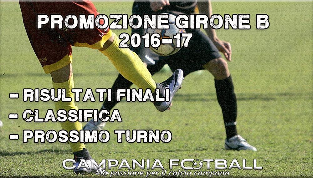 PROMOZIONE GIRONE B, 23^GIORNATA: RISULTATI FINALI, CLASSIFICA E PROSSIMO TURNO