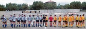 San Vito Positano e squadra avversaria a Sorrento prima di una partita (foto gentile concessione Barba e Castellano)