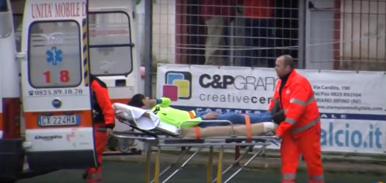 Promozione: assistente colpito da un pugno al termine di Ariano-Bisaccese