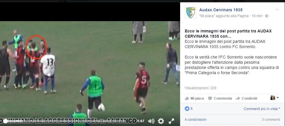 VIDEO   Le immagini del caos post partita Cervinara-Sorrento 1-0