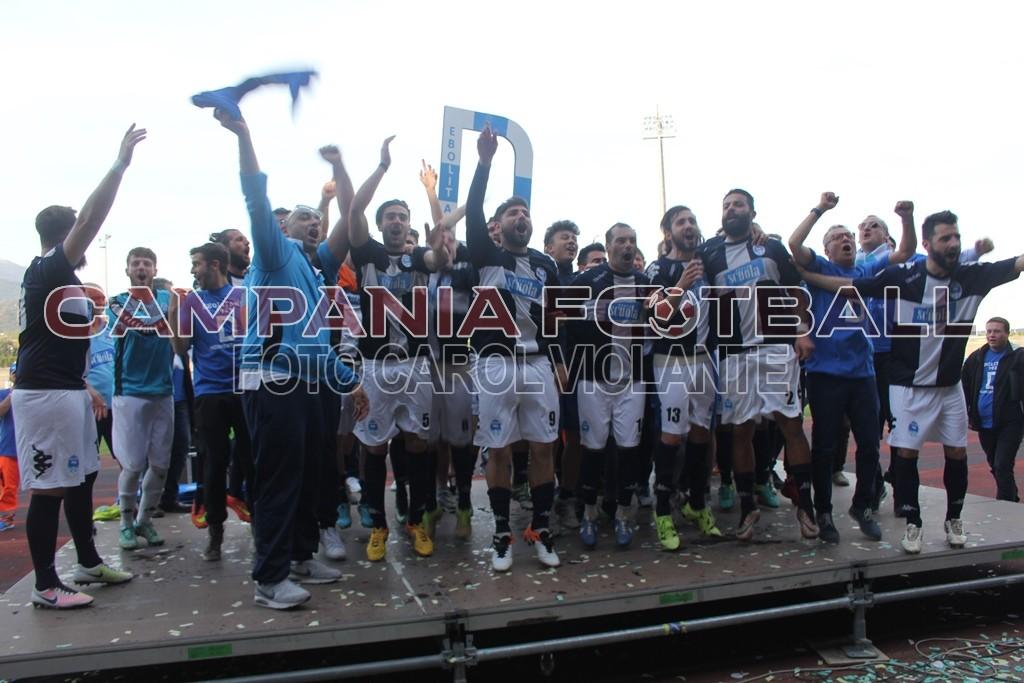 FOTO | L'Ebolitana festeggia la promozione in Serie D