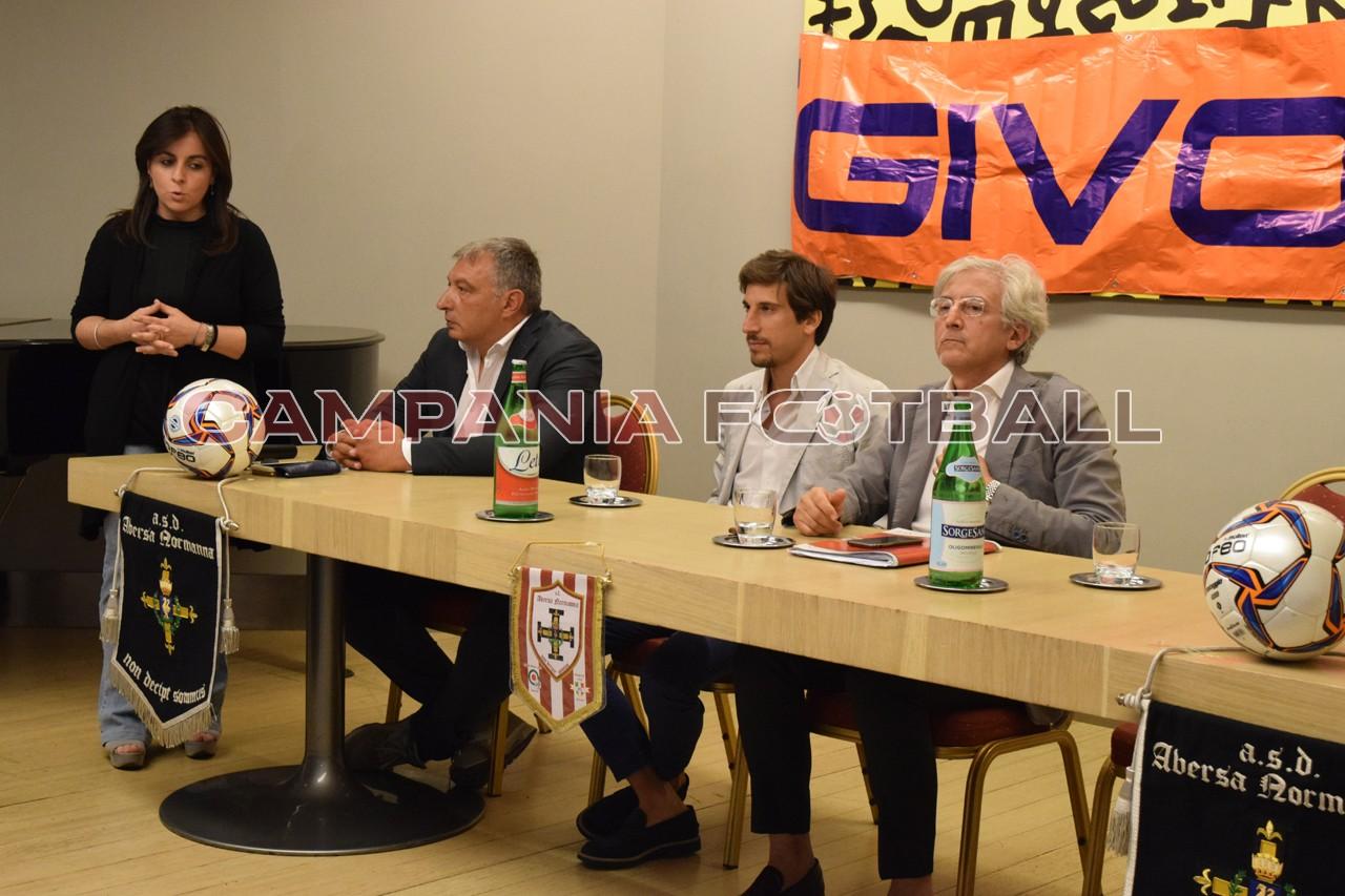"""VIDEO   Conferenza stampa Aversa Normanna, Spezzaferri: """"Sto onorando questa città da 14 anni"""""""