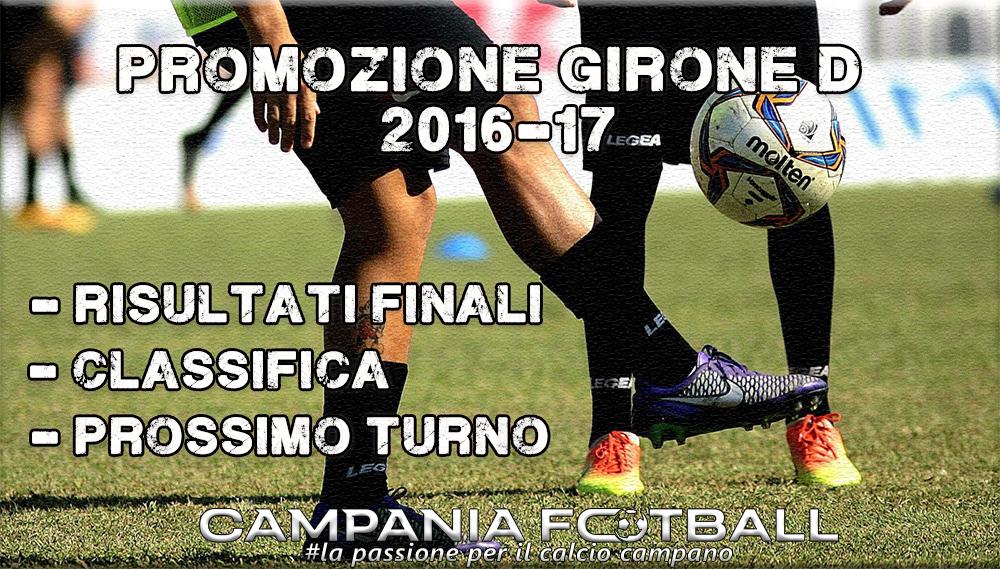PROMOZIONE GIRONE D, 24^GIORNATA: RISULTATI FINALI, CLASSIFICA E PROSSIMO TURNO