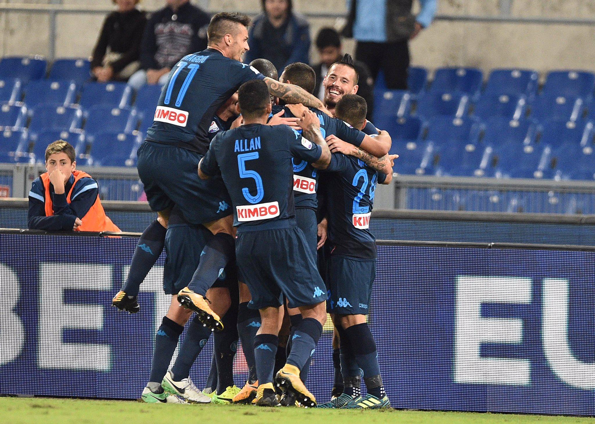 Lazio-Napoli 1-4: tutto ribaltato in cinque minuti, biancocelesti distrutti